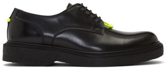 Neil Barrett Black Neon Detail Pierced Punk Derbys