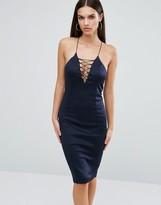 AX Paris Lace Up Front Cami Midi Dress