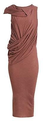 Rick Owens Lilies Women's Sleeveless Draped Midi Dress
