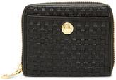 Cole Haan Benson II Woven Leather Zip Around Wallet