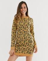 Brave Soul nala neon animal print sweater dress