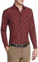 Robert Graham Rooster Long-Sleeve Woven Shirt, Red