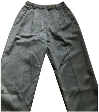 Burberry Green Cloth Trousers for Women Vintage