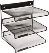 Design Ideas Three Tiered Desk Shelf, Black