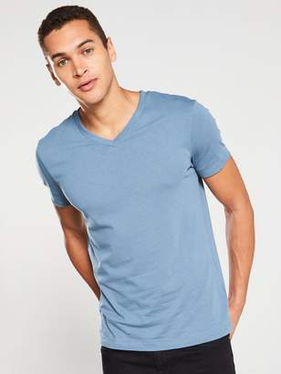 Very Essential V Neck T-Shirt - Airforce Blue