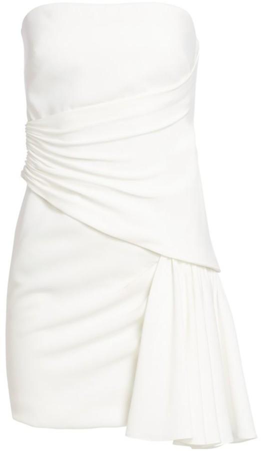 Cinq à Sept Ella Draped Satin Mini Dress