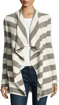 Three Dots Kiara Striped Open Cardigan, Multi