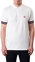 Pretty Green Contrast Tipped Cotton Pique Polo Shirt, White
