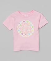 Swag Light Pink Polka Dot Monogram Tee - Infant Toddler & Girls