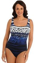 Women's Great Lengths Babaloo Tummy Slimmer Geometric One-Piece Swimsuit