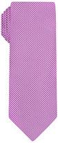 Purple Pinpoint Handprinted Satin Silk Tie