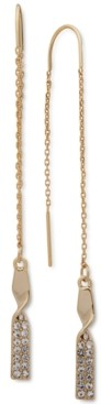 DKNY Gold-Tone Pave Twist Threader Earrings