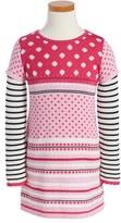 Design History Girl's Print Knit Dress