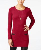 Amy Byer Juniors' Rib-Knit Sweater Tunic