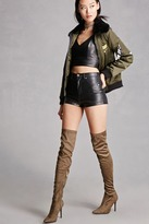 Forever 21 FOREVER 21+ Faux Suede Over-the-Knee Boots