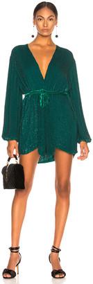 retrofete Gabrielle Robe Dress in Green | FWRD