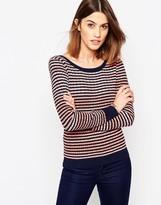 Shae Stripe Navy Lightweight Sweater