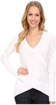 Mod-o-doc Classic Jersey Faux Wrap Pullover