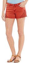 Celebrity Pink Crochet Stretch Denim Shorts