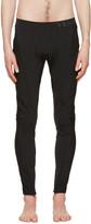 Versace Underwear Black Panelled Leggings