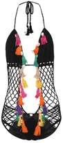 Anna Kosturova Aztec crocheted cotton swimsuit