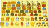 Luggage Set - Preiser Ho Scale Model Train Accessories 17005