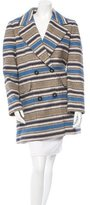 Yigal Azrouel Wool Striped Coat