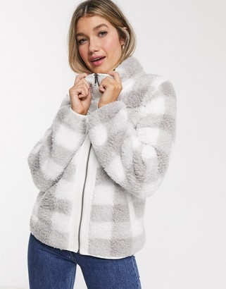 Abercrombie & Fitch check fleece jacket