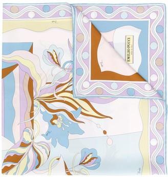 Emilio Pucci Vallauris Print Silk-Twill Square Scarf