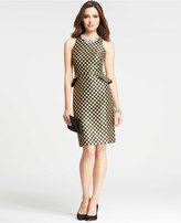 Ann Taylor Petite Peplum Dot Jacquard Dress