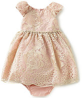 Rare Editions Baby Girls 12-24 Months Embroidered Mesh Dress