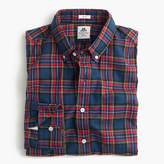 Thomas Mason Slim for J.Crew flannel shirt in dark royal plaid