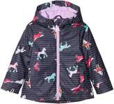 Joules Kids Printed Rubber Coat Girl's Coat