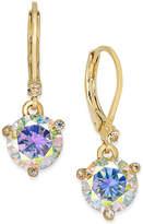 Kate Spade Gold-Tone Blue Crystal Drop Earrings
