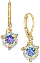 Kate Spade Gold-Tone Crystal Drop Earrings