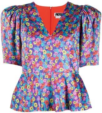 Rotate by Birger Christensen Mindy floral-print peplum blouse