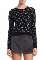 Marc Jacobs Floral-Print Cashmere Pullover