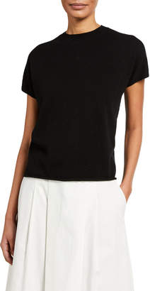 Vince Crewneck Short-Sleeve Popover Top