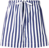 Aspesi striped drawstring shorts