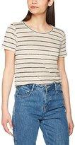 Vero Moda Women's Vmreza S/S Linen Top A T-Shirt