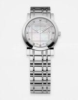 BURBERRY LDS Check-Patterned Stainless Steel Bracelet Watch
