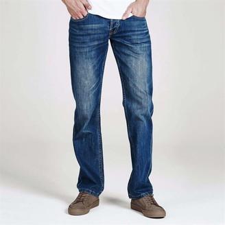 Firetrap Leather Belt Mens Jeans