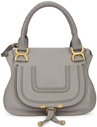 Chloé Marcie small grey leather shoulder bag