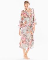 Soma Intimates Jules Chiffon Floral Print Long Robe