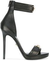 Versace Medusa plaque heel sandals - women - Leather - 35