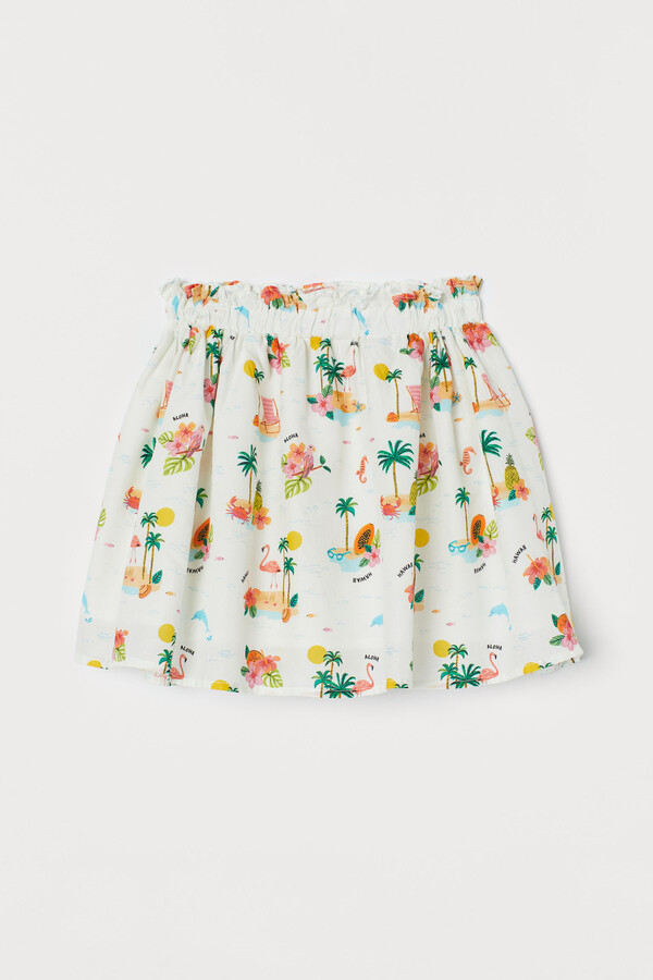 Thumbnail for your product : H&M Patterned cotton skirt