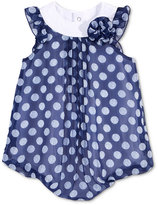 First Impressions Dot-Print Chiffon Bubble Romper, Baby Girls (0-24 months), Only At Macy's