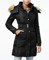 Rachel Roy Hooded Faux-Fur-Trim Puffer Coat, Only at Macy's