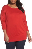 Sejour Plus Size Women's Dolman Sleeve Sweater