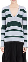 Proenza Schouler Women's Striped Rib-Knit Wool-Silk-Cashmere Sweater